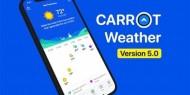 """""""Carrot Weather"""" يضيف تحديثا يُظهر فرص النجاة من الموجات الحارة"""