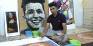 خاص بالفيديو|| فنان تشكيلي يبتكر لوحات فنية بالأكياس البلاستيكية