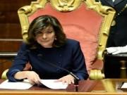 إيطاليا: تحديد هوية المسؤولين عن تهديد رئيسة مجلس الشيوخ